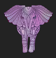 Vaporwave elephant vector