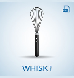 Kitchen tools whisk isolated on a background vector