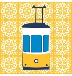 Colorful of traditional Lisbon tram vector image
