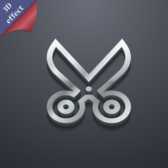 Scissors icon symbol 3d style trendy modern design vector