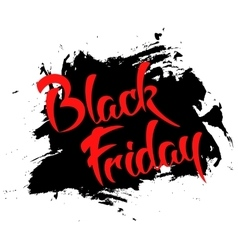 Black friday - handmade lettering vector