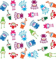 Extraterrestrials - seamless pattern kids design vector