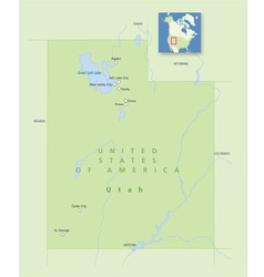 Usa utah small vector