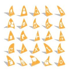 Triangular web icons vector