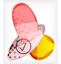 Abstract colorful glossy blank round shapes vector