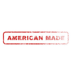 American made rubber stamp vector
