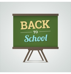 Back to school on green board vector image