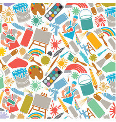 background pattern with printing icons vector image vector image