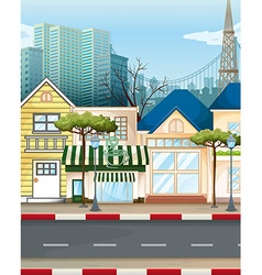 Business area in the city vector image vector image