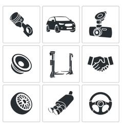 Car repairs and maintenance icon set vector