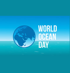 Celebration of world ocean day vector