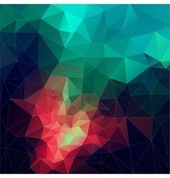 Color Abstract mosaic triangle geometric vector image vector image