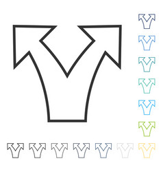 Divide arrow icon vector