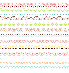 doodles cute borders vector image vector image