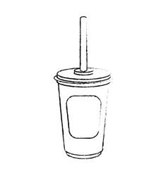 Drink cup icon vector