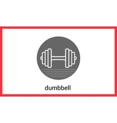 Dumbell contour outline icon vector image vector image