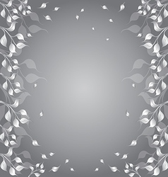 Floral frame with flyaway autumn foliage vector