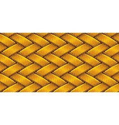 golden fabric weaving vector image vector image