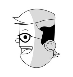 Head of man icon image vector