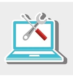Laptop tools repair service vector