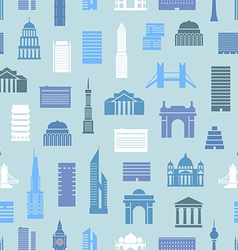 Modern city silhouettes seamless pattern vector image vector image