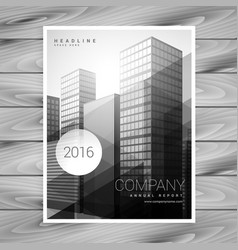 Modern company brochure template design vector