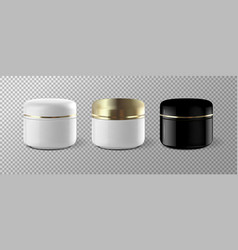 Realistic cosmetic cream container template mock vector