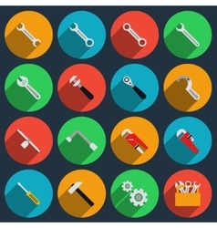 Repair icons in modern flat style vector image vector image