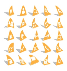 Triangular Web Icons vector image vector image
