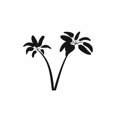 Two palms icon simple style vector