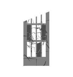 war broken building cracks and splinters of vector image vector image