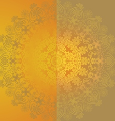yellow floral design6 vector image