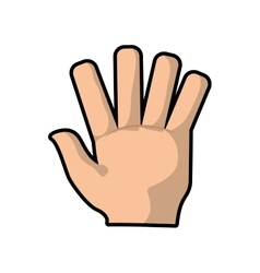 Hand human gesture fingers palm icon vector