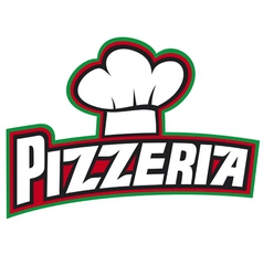 pizzeria label design vector image