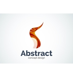 Abstract wave logo template smooth motion concept vector