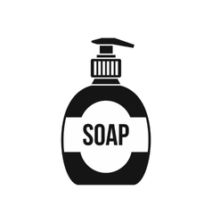 Bottle of liquid soap icon simple style vector