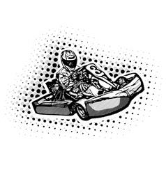 Go kart racer vector