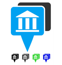 Bank map pointers flat icon vector