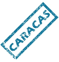 Caracas rubber stamp vector