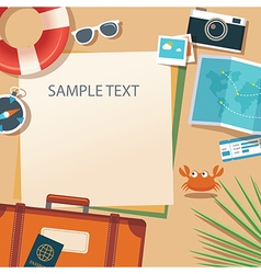 Summer and travel flat design banner template vector