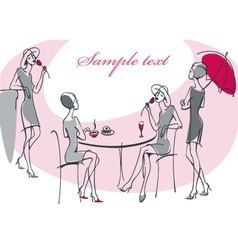 Collection feminine silhouette vector