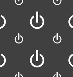 Power sign icon switch symbol seamless pattern on vector