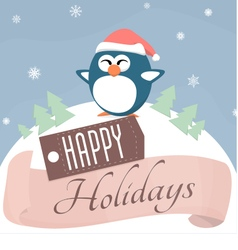 Holiday penguin vector