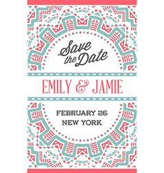 Design awesome wedding invitation template with vector