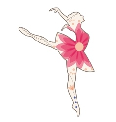 Ballet dancer vintage vector