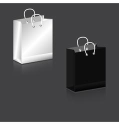Paper Bag black and white Zagotovka vector image