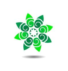 Flower concept logo icon vector