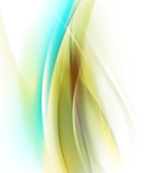Abstract smooth green flow background for nature vector image