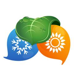 Air conditioning bio symbol design vector