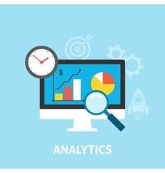 Analytics icons flat vector